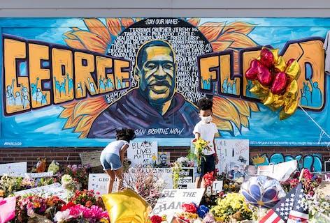 Vote for George Floyd Mural
